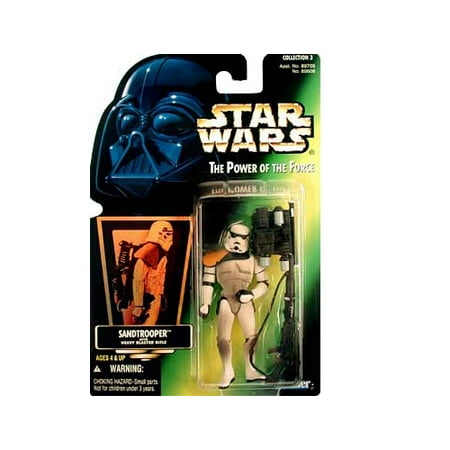 Star Wars  Power Of The Force Green Card Sandtrooper Action Figure