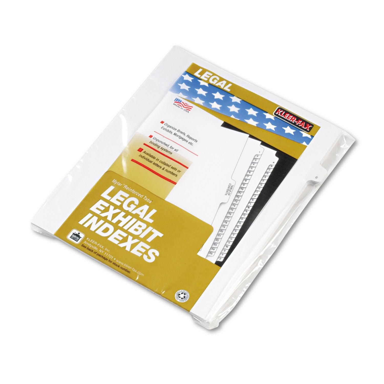 """90000 Series Legal Exhibit Index Dividers, Side Tab, Printed """"6"""", 25/Pack"""