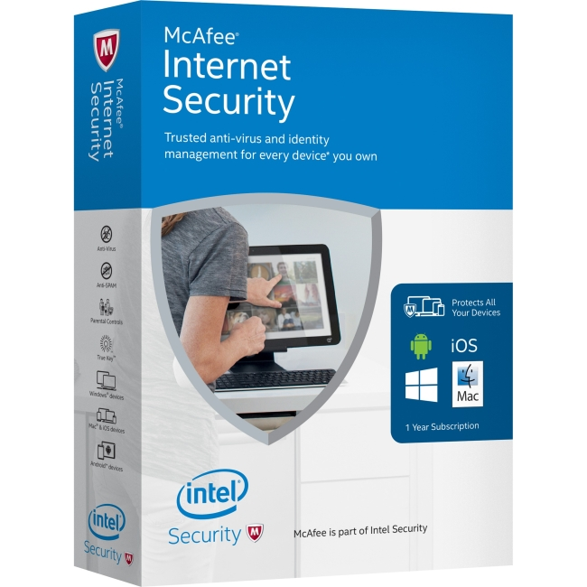 INTEL SECURITY RETAIL BOX MIS16EMB9RAA MFE 2016 INTERNET SECURITY