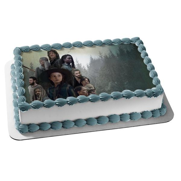 The Walking Dead Rick Daryl Birthday Party Edible Cake Topper Image Zombie
