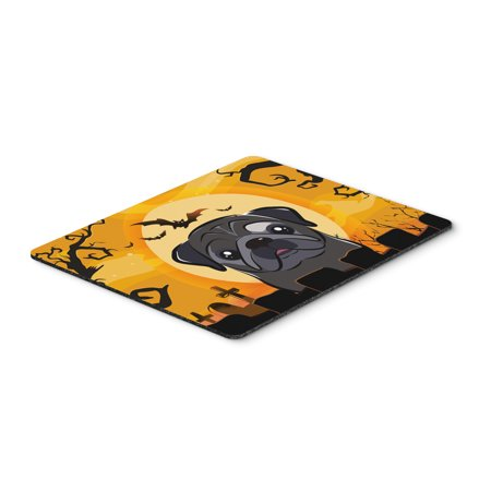Halloween Black Pug Mouse Pad, Hot Pad or Trivet BB1821MP (Halloween Pugs)