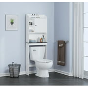 Spirich Home Bathroom Shelf Over The Toilet Cabinet Organizer Esaver White
