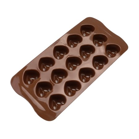 Electronicheart 15 Grids Chocolate Heart Shaped Mold Ice Cube Fondant Making Mould Tray Home Bakery Baking Tool - image 6 de 8