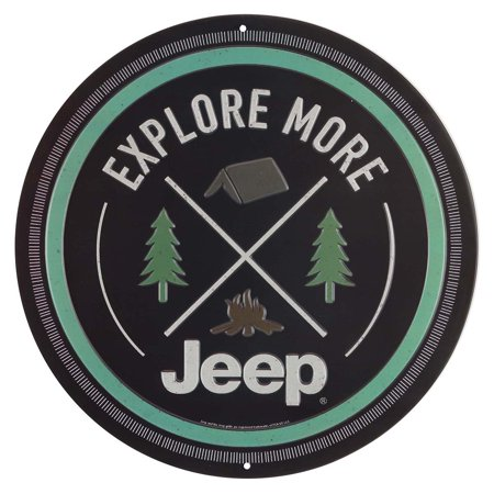Jeep Explore More Embossed Metal Sign