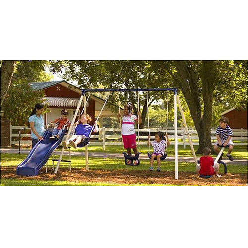 Genial Flexible Flyer Triple Fun II Metal Swing Set