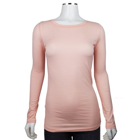 Women's Long Sleeve Round Neck Fitted Top Basic T Shirts (FAST & FREE SHIPPING)