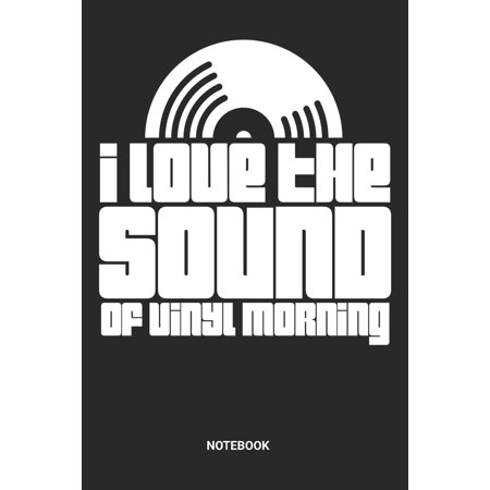 Vinyl Morning Notebook : Dotted Lined Vinyl Composition Notebook (6x9 inches) ideal as a Vinyl Cover Collection Journal. Also perfect as a DJ Set List Book for all Vinyl LP Record Lover. Great gift for Men and Women Lp Cover Lover