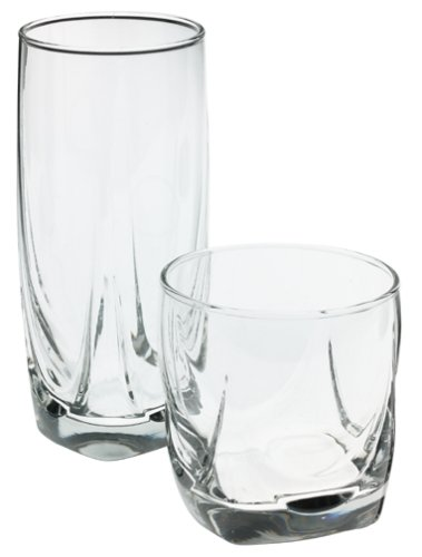 16-Piece Imperial Glassware Set, Contains both cooler and rocks style glasses By Libbey by