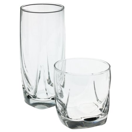 16-Piece Imperial Glassware Set, Contains both cooler and rocks style glasses By Libbey
