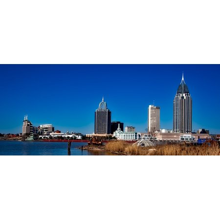 Canvas Print City Cities Mobile Skyline Urban Alabama Stretched Canvas 10 x 14](Party City In Mobile Alabama)
