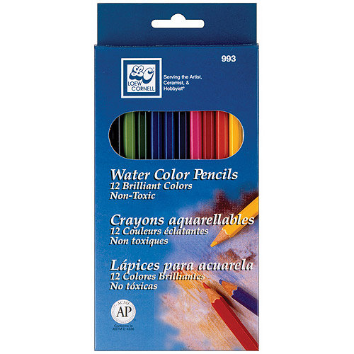 Loew-Cornell Watercolor Pencils, 12-Pack