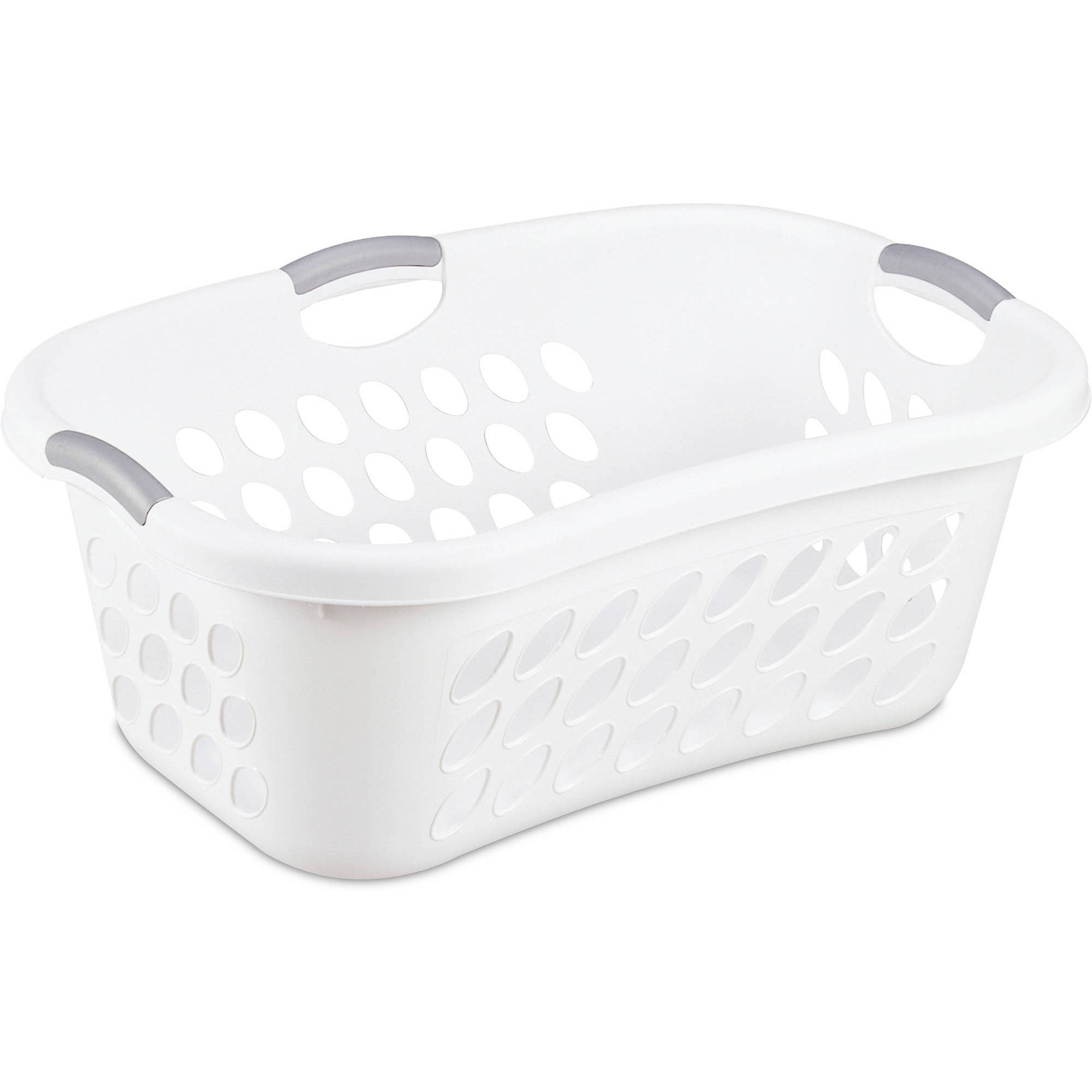 Sterilite 1.25 Bushel Hiphold Laundry Basket- White (Available in Case of 6 or Single Unit)