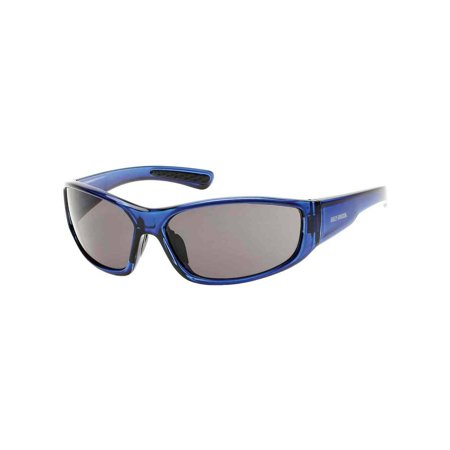 Harley-Davidson Men's Oval H-D Script Sunglasses, Blue Frame & Smoke Gray Lens, Harley Davidson ()