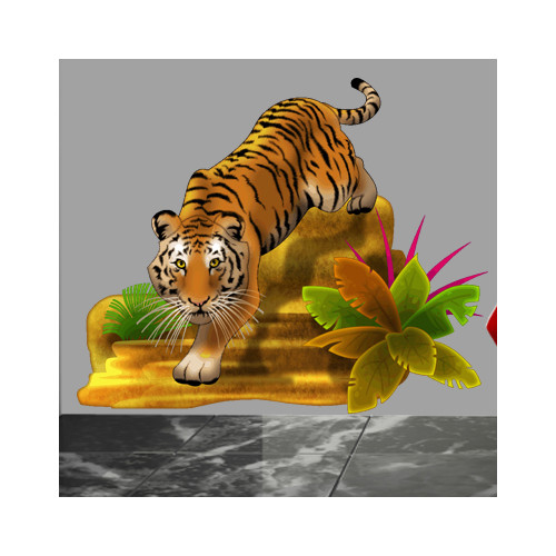 Wallhogs Stalking Tiger III Cutout Wall Decal