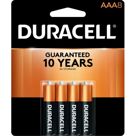 Duracell 1.5V Coppertop Alkaline AAA Batteries 8 Pack