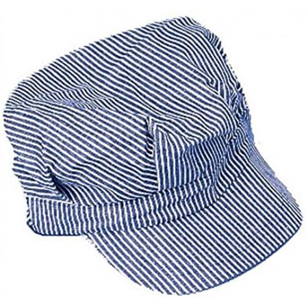 Engineer Hat - Blue and white stripes (Striped Top Hat)