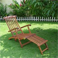 Pemberly Row 5 Position Wood Reclining Folding Steamer Lounge