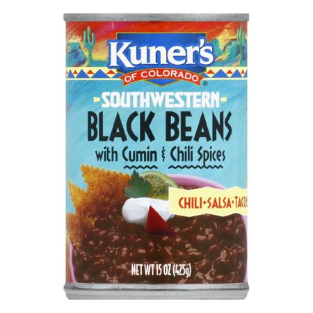 Kuner's Black Beans with Spices, 15 OZ (Pack of -
