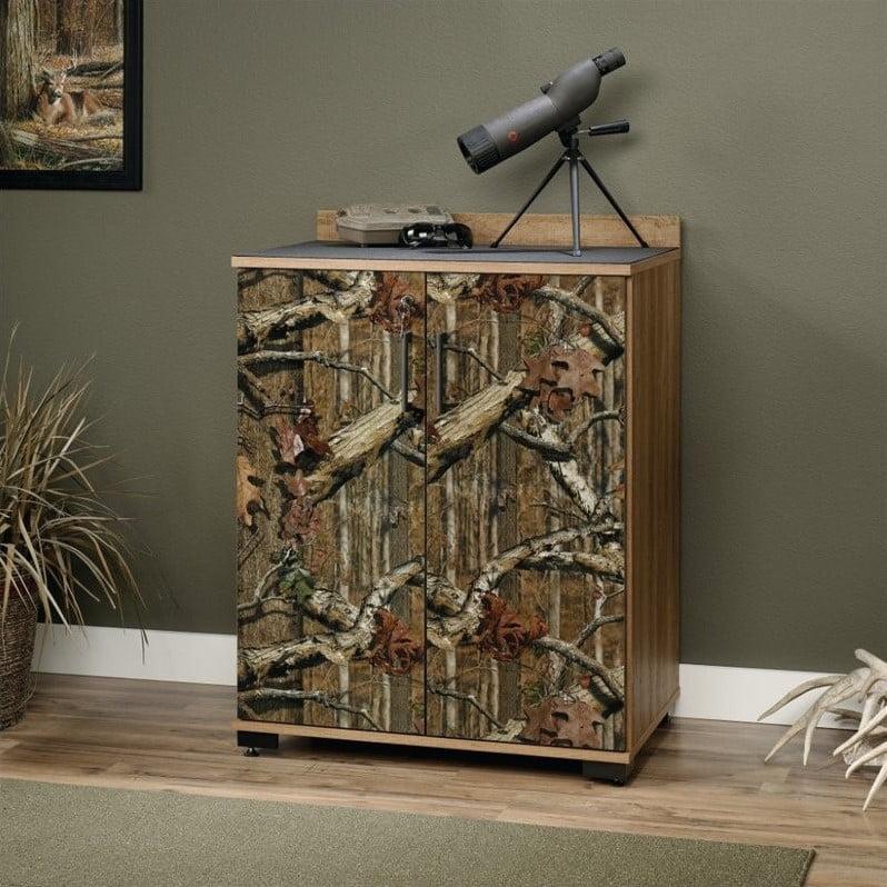 Sauder Flat Creek 2-Door Cabinet, Mossy Oak Break-Up Infinity Pattern