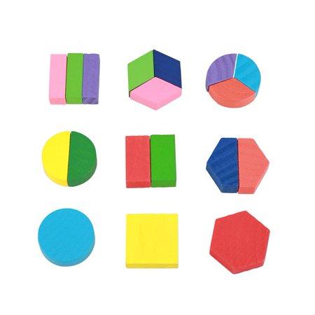 Greensen Bâtiment géométrique jouet, blocs de construction en bois, enfants en bois éducatif jouet ensemble géométrique bloc construction Puzzle bébé outil d'apprentissage précoce - image 6 de 8