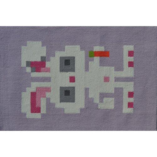 "The Rug Market Pixel Bunny 2.8"" x 4.8"" Area Rug"