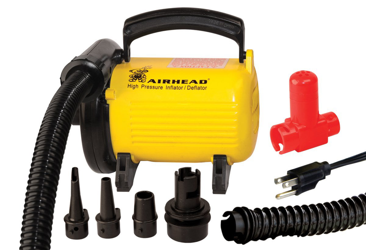 Click here to buy Airhead High Pressure 120V Air Pump Includes Pressure Release Valve by Kwik Tek.