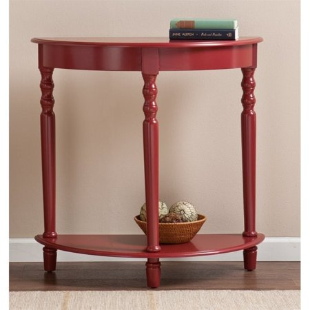 Southern Enterprises Tyra Demilune Accent Table in Red