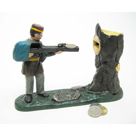 Mechanical Bank Collectors (Rifle Range Hunter Collectors' Die Cast Iron Mechanical Coin Bank Military)