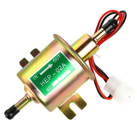 Universal Metal Solid Gasoline Petrol 12V Inline Vehicle Electric Fuel Pump HEP-02A Low Pressure  Automobile Cars for Mazda Toyota Solid Fuel Chimney