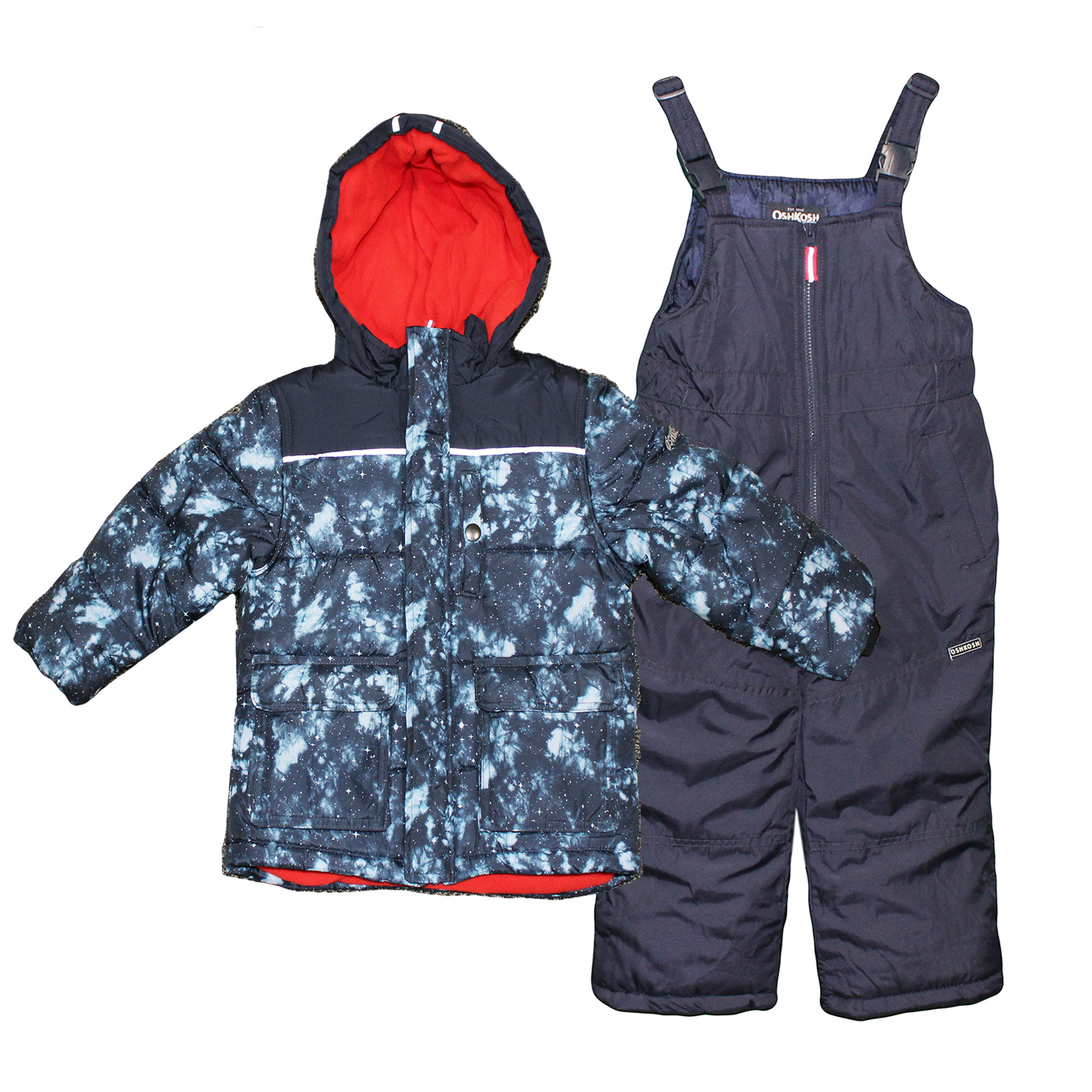 Osh Kosh B/'gosh Toddler Boys Red /& Blue Fleece Lined Jacket Size 2T 3T 4T