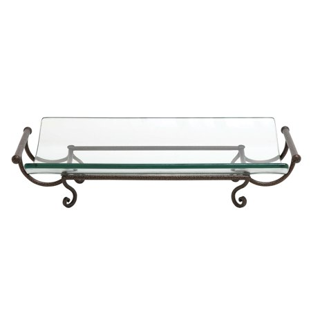 Decmode Glass Plate With Metal Stand And Handle