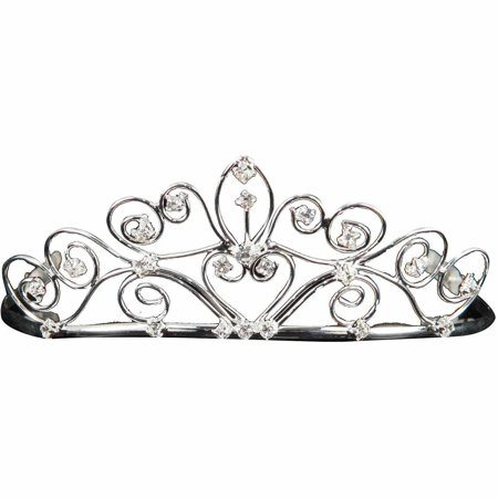 Silver Tiara Adult Halloween Accessory](Silver Tiara)