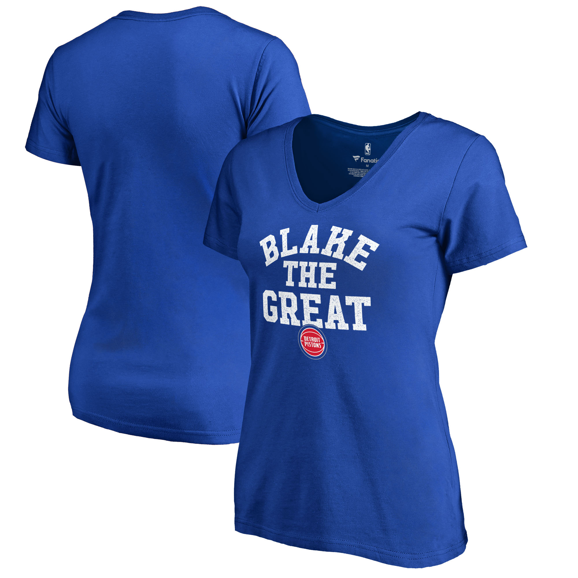 Blake Griffin Detroit Pistons Fanatics Branded Women's Hometown Collection Blake The Great Slim Fit V-Neck T-Shirt - Royal