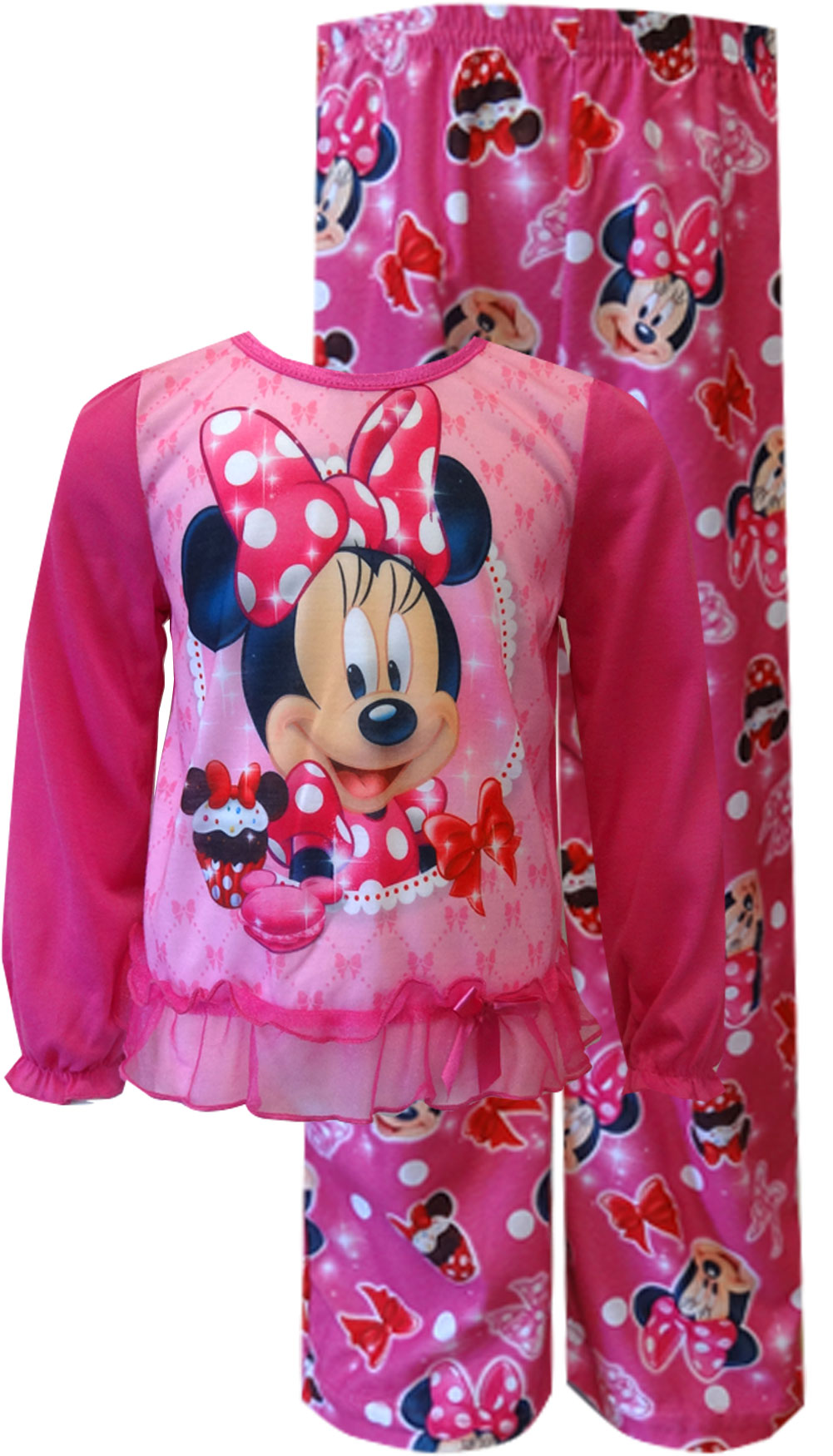 Minnie Mouse Cupcake Pajamas for Toddler Girls