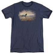 Wildlife Dust At Dawn Mens Adult Heather Ringer Shirt