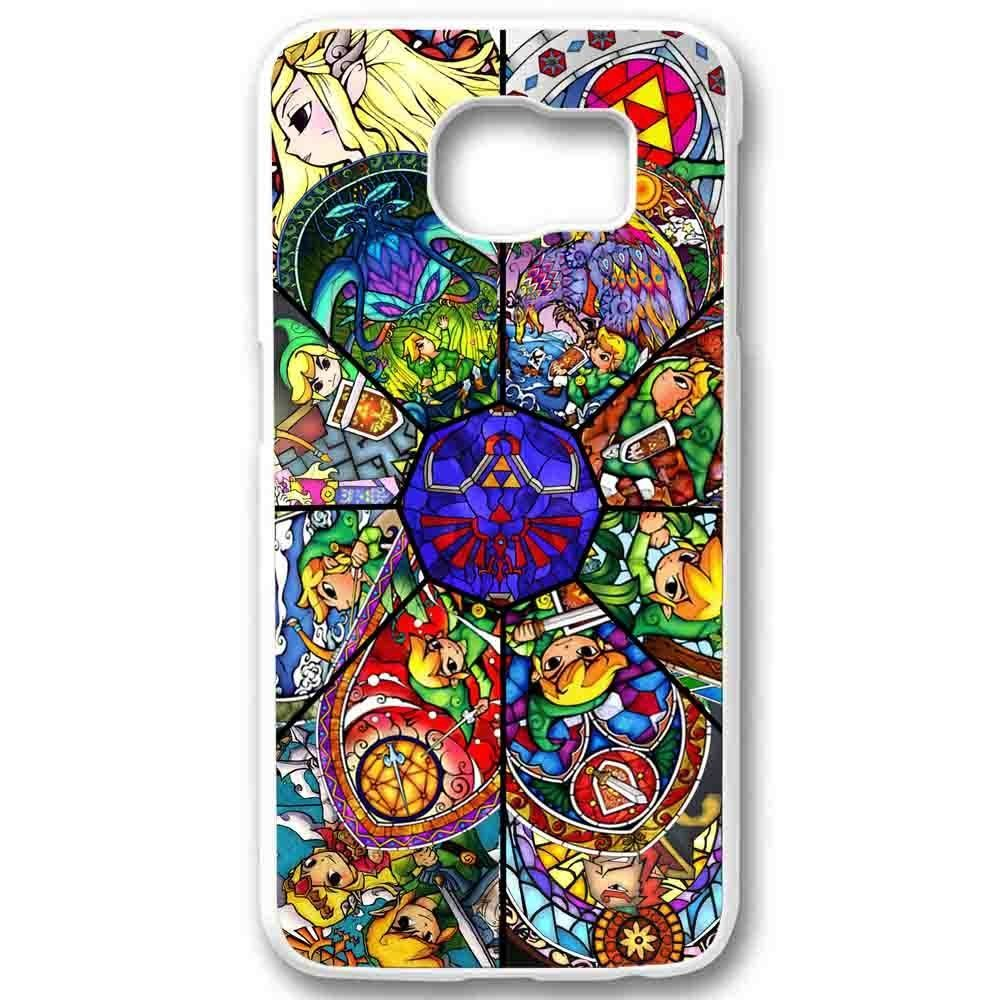 Ganma The legend of zelda full wind waker in Stained Glass Case For Samsung Galaxy Case (Case For Samsung Galaxy S6 Edge White)