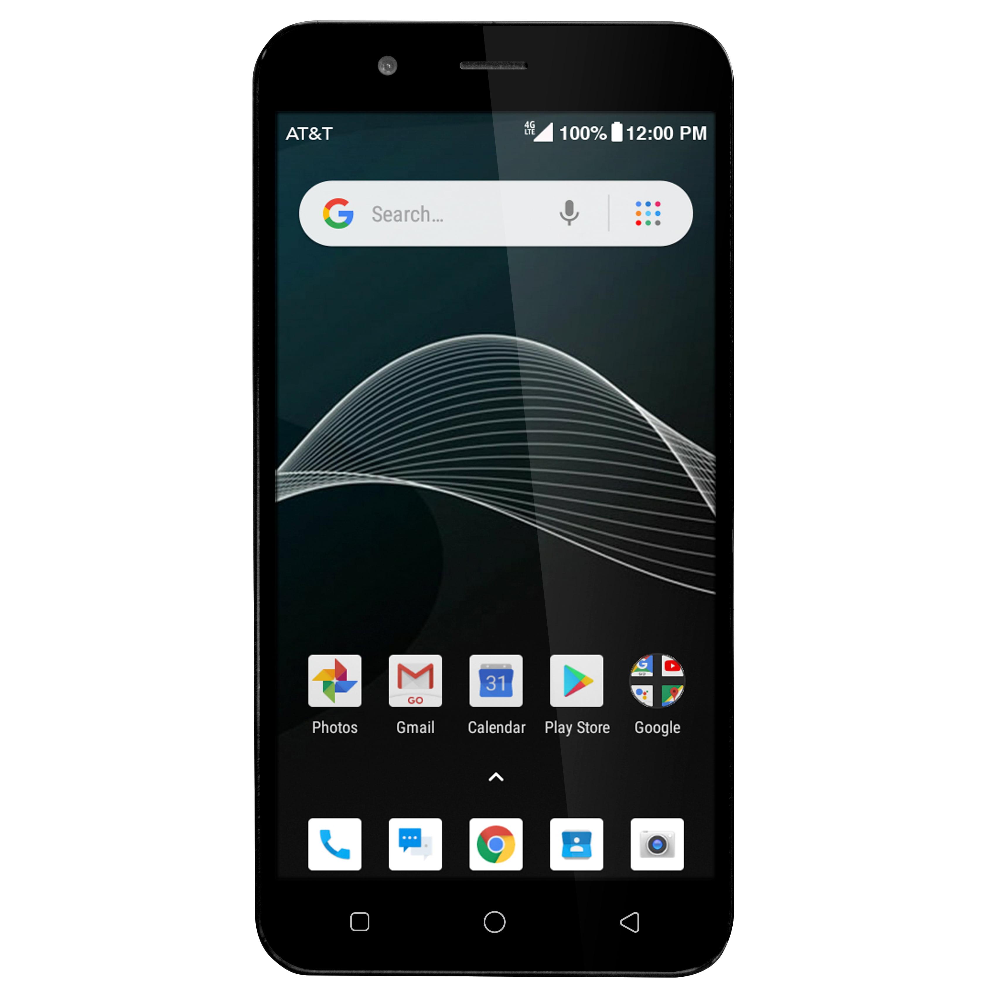 AT&T PREPAID AT&T Axia 16GB Prepaid Smartphone, Blue