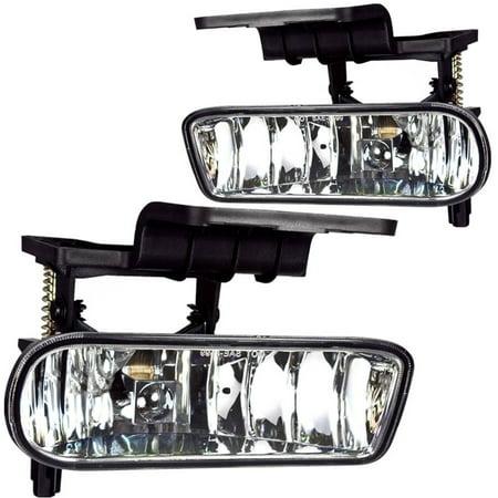 Fog Light For 00-01 Chevy Silverado Clear Lens, Pair (96 Chevy Silverado Fog Lights)