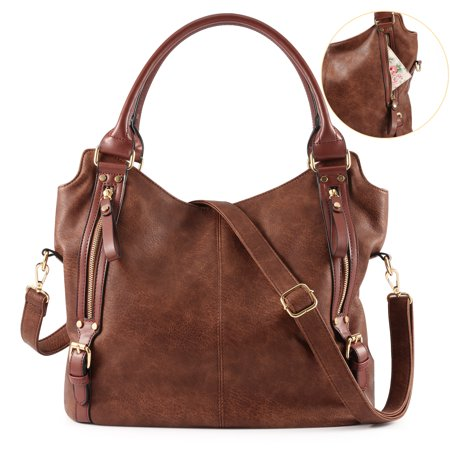 Suede Leather Tote Bag - Plambag Women Faux Leather Hobo Handbag Large Tote Purse