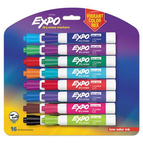Expo 1927526 Low Odor Dry Erase Markers Vibrant Colors 16 Markers Walmart Com Walmart Com