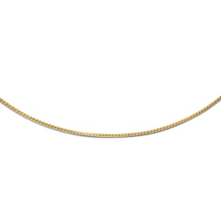 - 1mm Snake Wire Chain Necklace in 10k Yellow Gold
