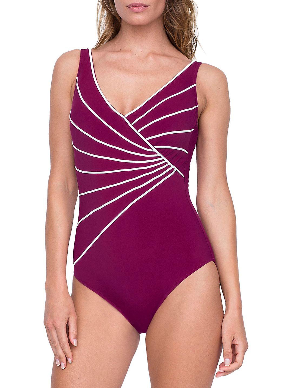 Sinatra Striped One-Piece Swimsuit