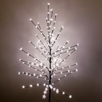 Artificial Cherry Blossom Tree, 150 Lights, Warm White, 6-Feet