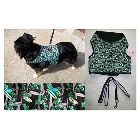 FASHION PRINT No Choke XL Harness Vests For Dogs - Smaller Dog Vest Harnesses(Hawaiian Surf Boards)