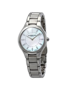 b2da84ef0 Product Image Raymond Weil Noemia White Mother of Pearl Dial Ladies Watch  5132-ST-97001