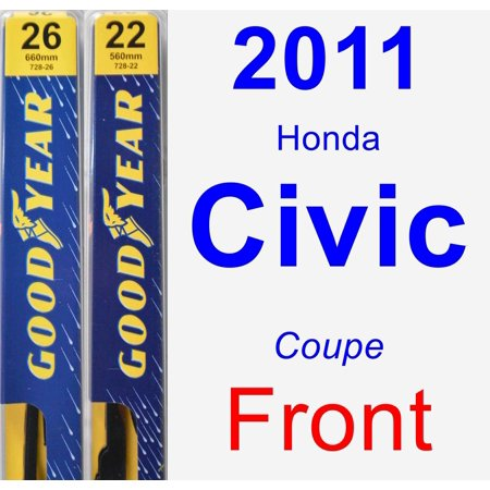Honda Civic Wiper (2011 Honda Civic Wiper Blade Set/Kit (Front) (2 Blades) -)