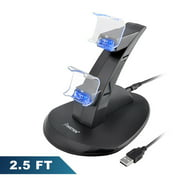 Insten Dual PS4 Controller Charger, Charging Station, USB Simultaneous Charging Dock Cradle Stand for Sony Playstation 4 Gaming Remote Control with LED Indicator