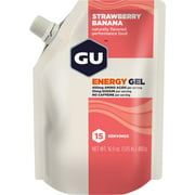 GU Energy Gel: Strawberry Banana, 15 Serving Pouch