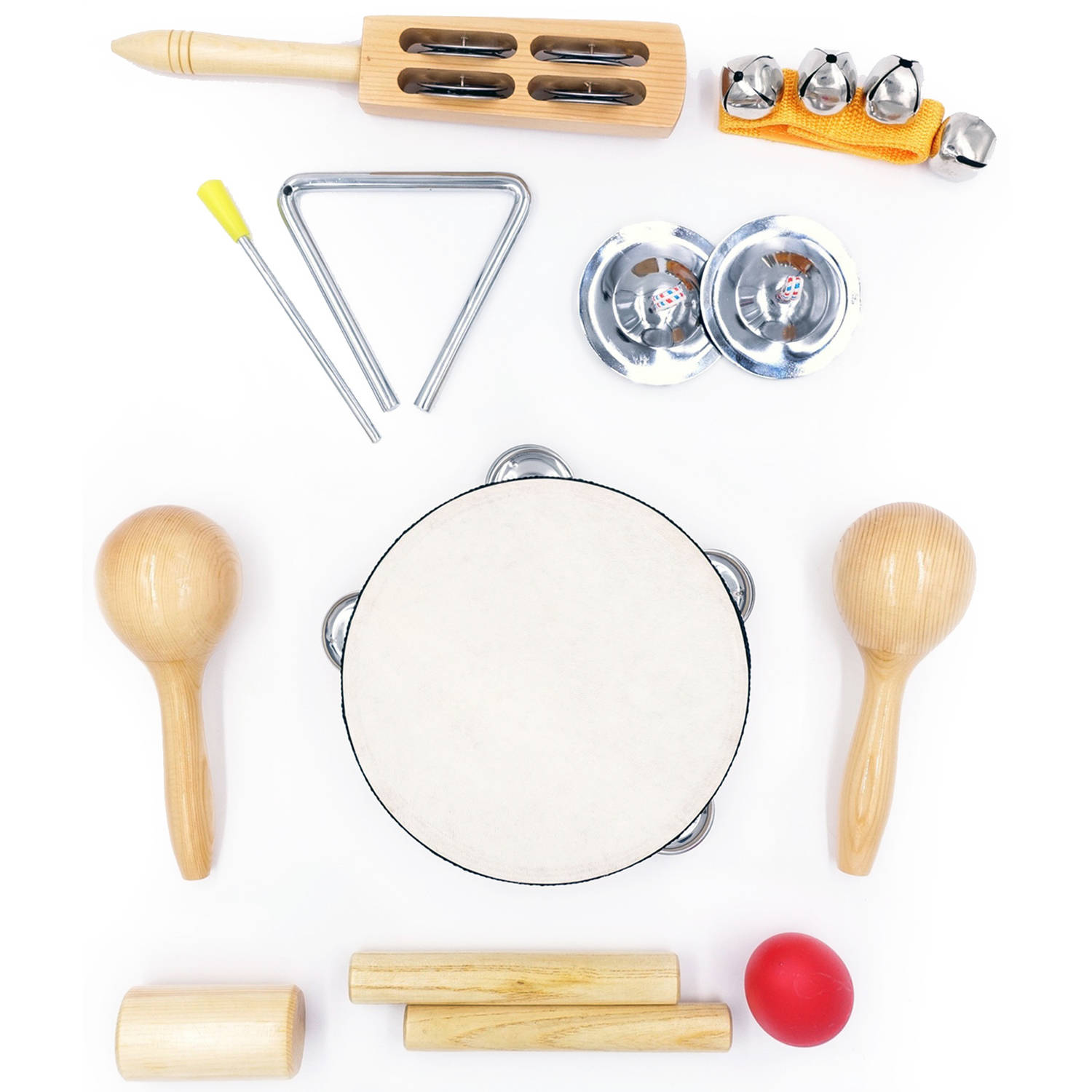 GP Percussion GPPK9 9-Piece Percussion Pack with Bag