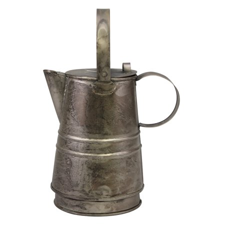 Decorative Antique Silver Metal Drinking Pitcher with Handle and